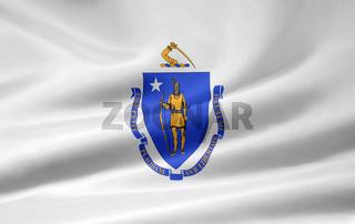 Flagge von Massachusetts - USA