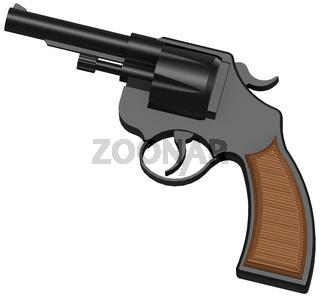 3D image of classic revolver
