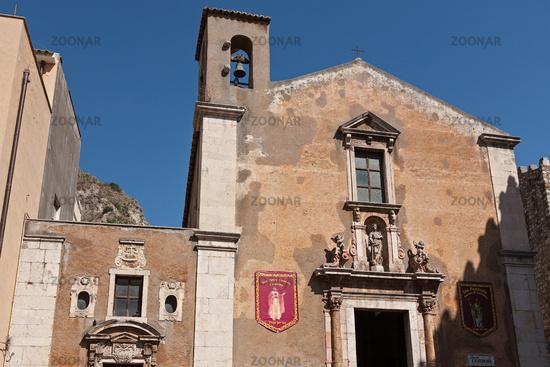 The Saint Catherine church in Taormina, Sicily, Italy