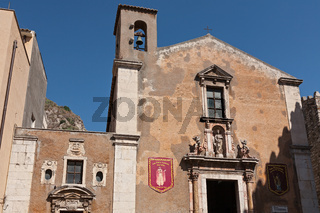 The Saint Catherine church in Taormina, Sicily, Italy