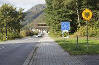 Offene Grenze zwischen Hrensko, Tschechien und Schmilka, Deutschland