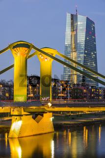 Europäische Zentralbank, Architekt Coop Himmelblau, Frankfurt am Main, Hessen, Deutschland, Europa