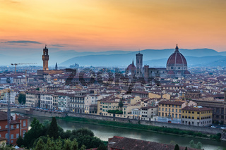 Florence city skyline, Italy