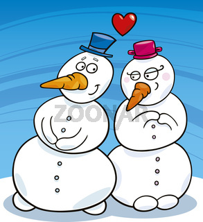 snowman in love