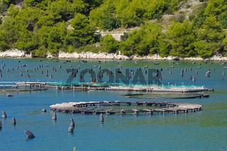 Aquakultur - Marine open water fish farm