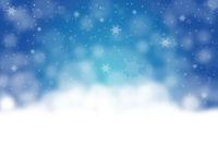 Blauer Hintergrund Weihnachten mit Schnee