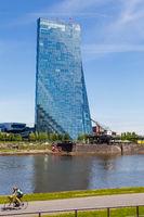 Frankfurt am Main, der Neubau der EZB. Mai 2017