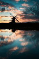 Herringfleet Mill a smock windmill on the Suffolk side of the Norfolk Broads