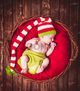 The newborn baby