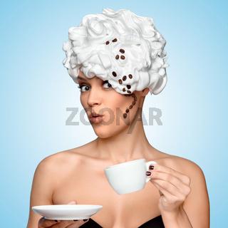 Coffee glam.