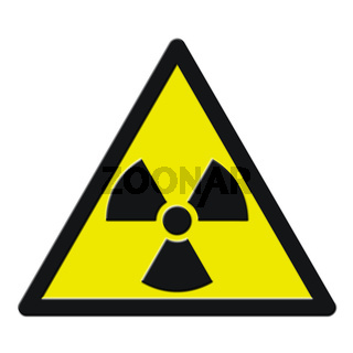 A radioactive sign