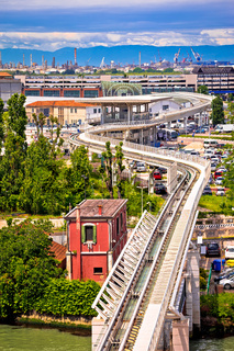 Venice People Mover air rail transit system view