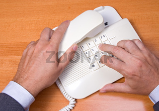 telephone receiver in hand