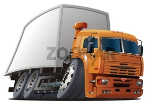 Cartoon cargo truck