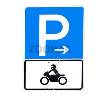 Parken für Motorräder