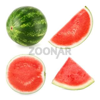 Wassermelone in 4 verschiedenen Formen