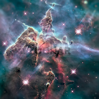 Mystic Mountain. Region in the Carina Nebula.