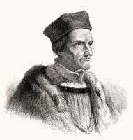 Johann or Johannes Geiler von Kaysersberg, 1445 - 1510, a Swiss-born priest, popular German preacher of the 15th century,