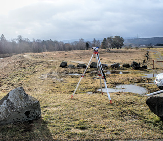 Surveying of slag heaps on the river 'Innerste' near Bredelem, Goslar
