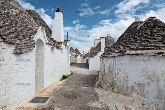 Beautiful town with Trulli houses in Alberobello, Puglia, Italy