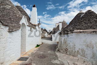 Beautiful town with Trulli houses in Alberobello, Puglia, Italy