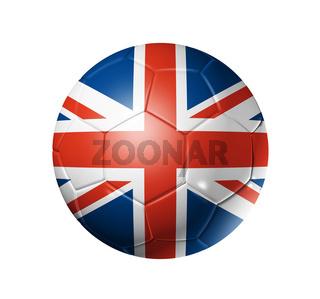 Soccer football ball with UK flag