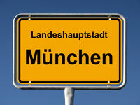 Ortsschild von München