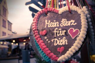 Lebkuchenherz 'Mein Herz für Dich '
