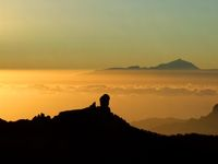 sundown over Canarian Isles