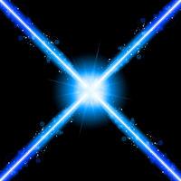 Laser Neon Blue Lights