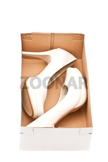 Female shoes in box
