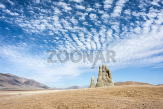 Hand Sculpture, the symbol of Atacama Desert in Chile