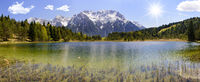 panorama scene at alps mountains in Bavaria