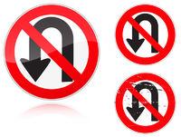 U-Turn forbidden - road sign