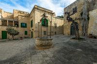 Town square in Mdina,Malta