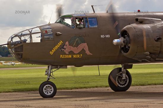 UK Duxford Mitchell B-25 Aircraft