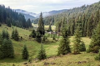 Mountain campsite valley