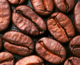 Kaffee Bohnen Nahaufnahme