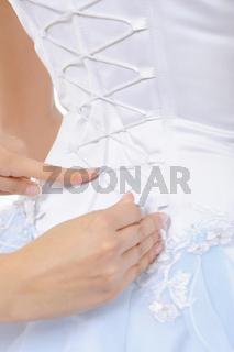 Silk Corset Bride