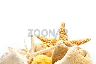Towels and starfish