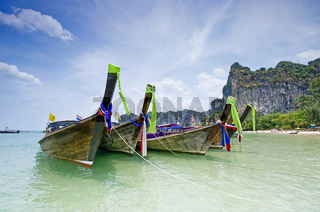 Longtail boats in Thailand