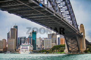 View of Sydney with Harbor Bridge New South Wales Australia