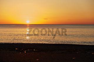Sonnenuntergang am Schwarzen Meer bei Batumi