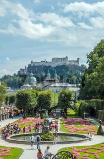 Oesterreich, Salzburger Land, Salzburg: Schloss Mirabell und Mirabellgarten