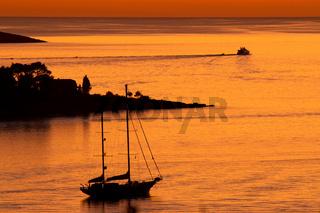 Sonnenuntergang in Cavtat 003. Kroatien
