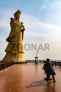 Statue of the sea goddess Matsu in Qingdao, Shandong, China