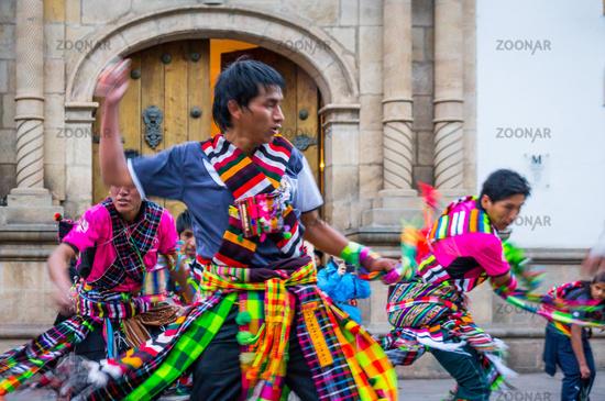Dancers at Fiesta of the Virgin de Guadalupe in Sucre