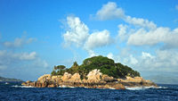 Wunderschönes Coco Island auf den Seychellen