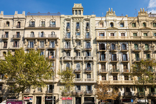 Typical apartment house in Barcelona