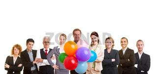 Gruppe von Geschäftsleuten feiert